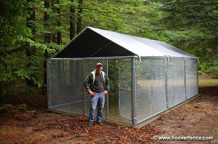 Outdoor Dog Kennels | Custom Modular Kennels Installation Photos - Hoover Fence Co ...