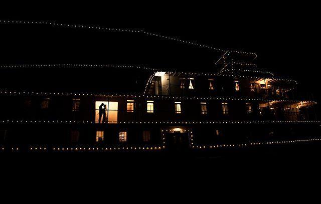 SS Sicamous as night with newly weds silhouetted against the light. Location: Penticton, Okanagan. Photographer Jenine Kinnee Photography.  @jeninekinneephoto