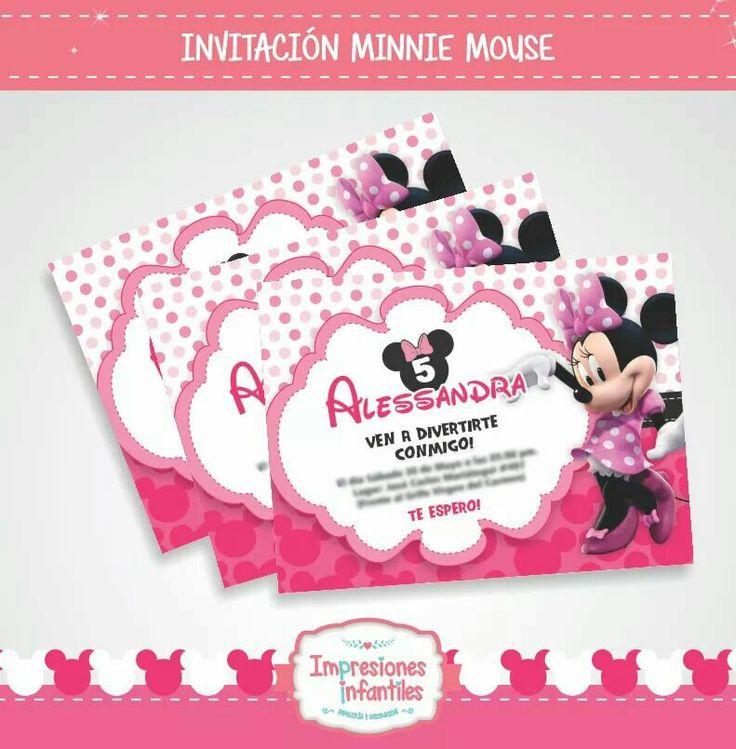 Tarjeta invitación Minnie