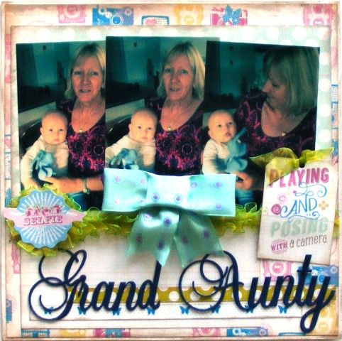 Baby page created with Webster's Sweet Routine collection by Barb for My Scrappin' Shop.