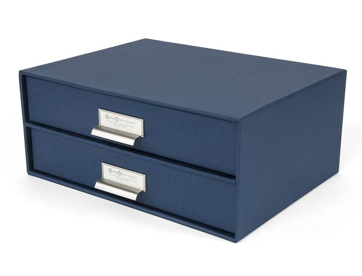 Birger 2 Drawer Paper File Box