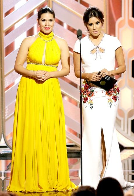America Ferrera and Eva Longoria @ the 2016 Golden Globes; personifying the epitome of STUNNING!!!