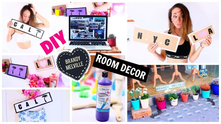 DIY Tumblr Inspired Room Decor : Brandy Melville Wooden Signs!