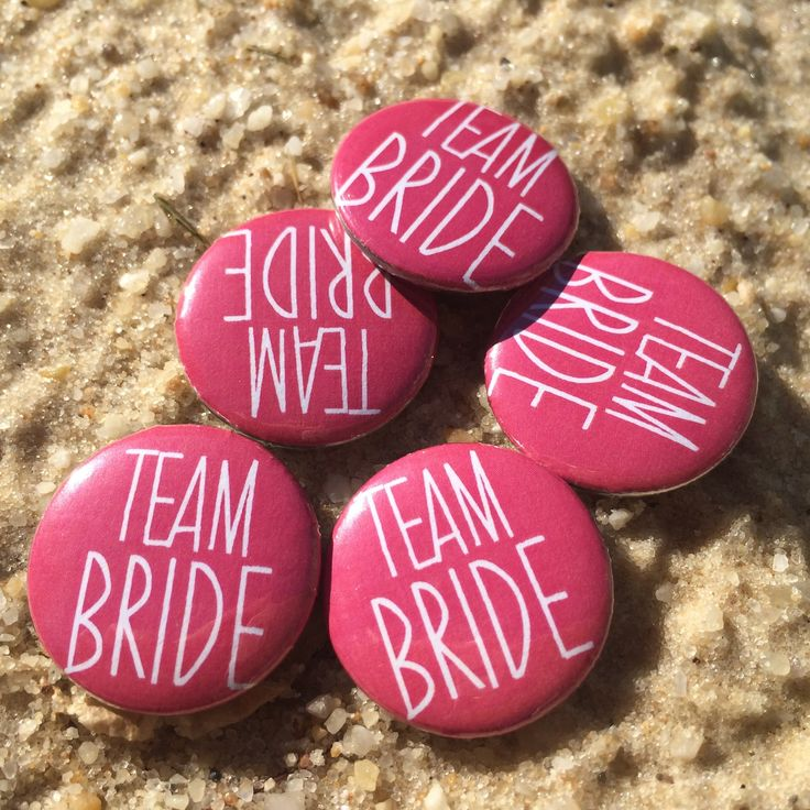 Team Bride Bachelorette Pins