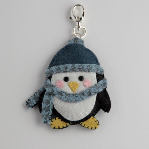 Felt Penguin Keychain..no longer available but great inspiration for a DIY! Great stocking stuffer!