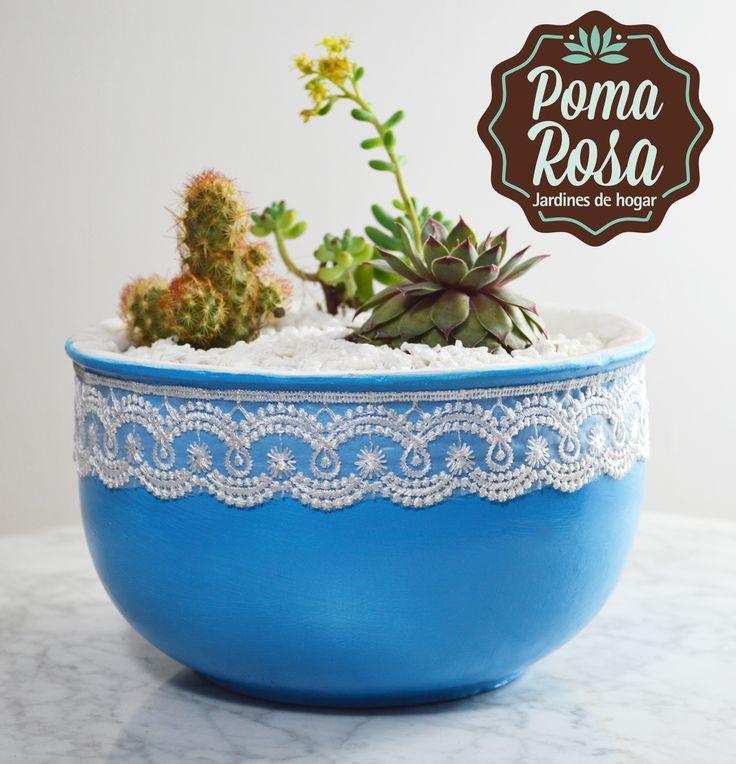 Un terrario único que llena de vida y buena energía cualquier lugar donde lo pongas!  Plantas: Suculentas y Cactus