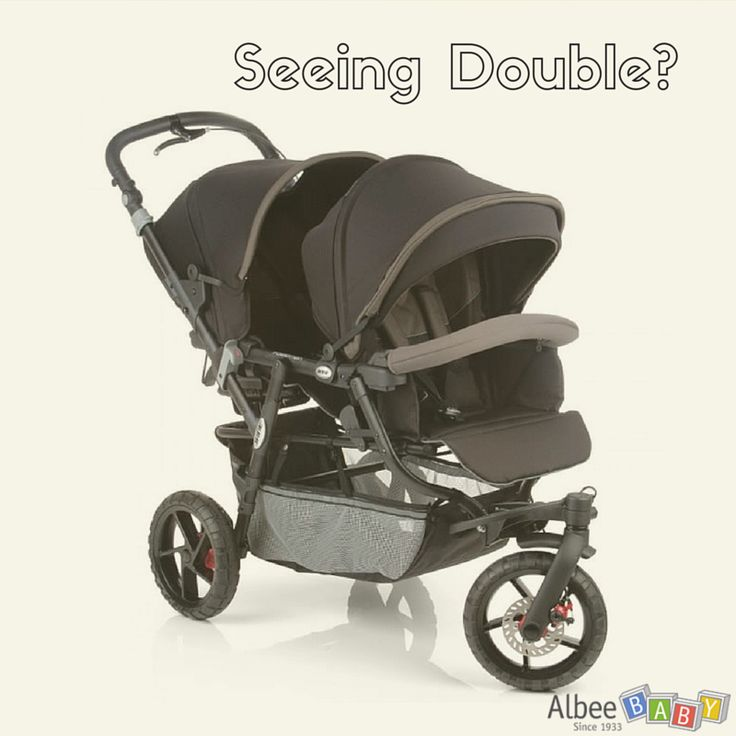 Are you seeing double? The Jane PowerTwin Pro Double Stroller might just be perfect for you! New and in stock at Albee Baby. #Twins #Baby #BabyGear #AlbeeBaby