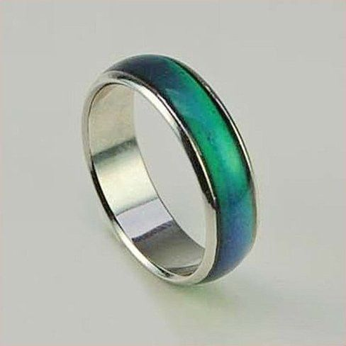 Check in on your inner thoughts and feelings with this mood ring band! Band changes color according to your mood! IT REALLY WORKS! Have fun and enjoy! See photo for color chart. Great for all ages. Fo