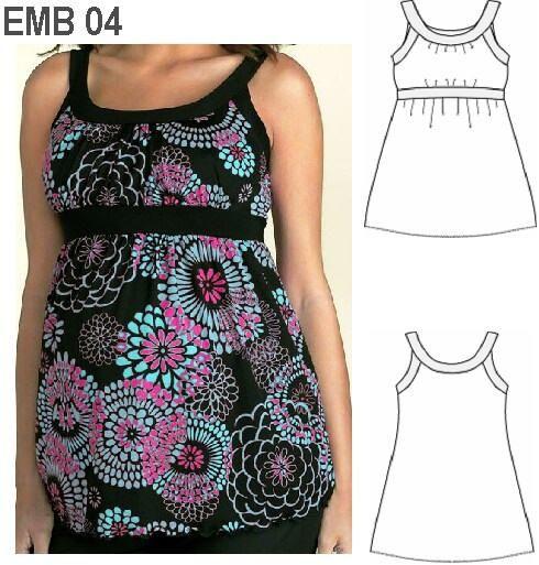 Moldes ropa para embarazadas - Imagui