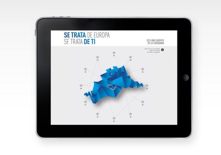 Campaña para la Diputación de Málaga sobre el Año Europeo de la Ciudadanía. Campaña Publicitaria Cartelería Diseño de espacio comercial Diseño de marca Diseño gráfico Displays Grabación y realización de video promocional Marketing directo Papelería corporativa Web corporativa. Europa.