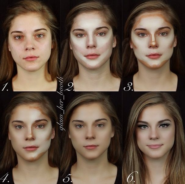 """Contouring, though, in natural light, gives the """"makeup"""" a very thick feel to it. Always remember what kind of light source you will be faced with through out the day!"""