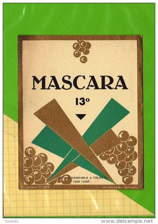 Etiquette Algerie MASCARA