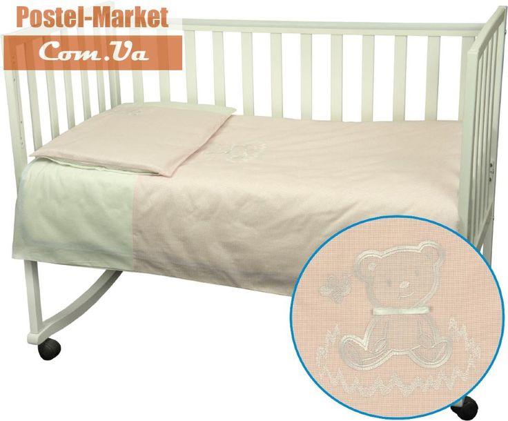 Постельное белье Ведмедик Руно в кроватку розовое купить в интернет магазине Постель Маркет (Киев, Украина)