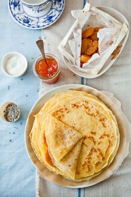 Gluten free crepes- 125gr potato flour (about 3/4 cup) (I use Ener-g Potato Starch Flour)   125gr millet flour (about 3/4 cup)   pinch of salt   2 cups whole milk   3 eggs   1 tablespoon unsalted butter, melted and cooled   pinch of salt   1/2 cup light beer (or club soda or cider)