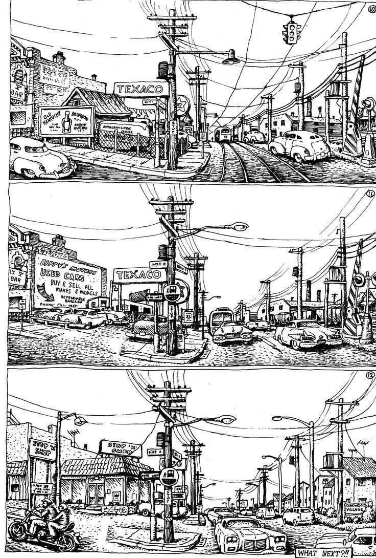 R. Crumb Street Corner | Drawing Architecture | Pinterest ...