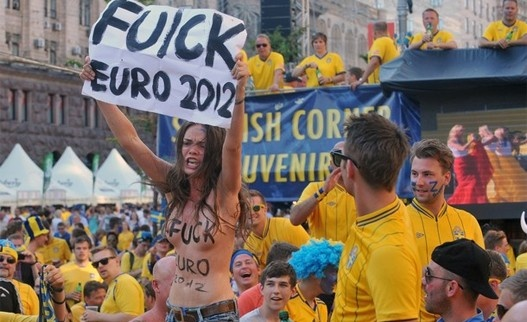 Amazing   Swedish fans bemused by Ukraine topless protest - In2EastAfrica - East African news, Headlines, Business, Tourism, Sports, Health, Entertainment, Education picture