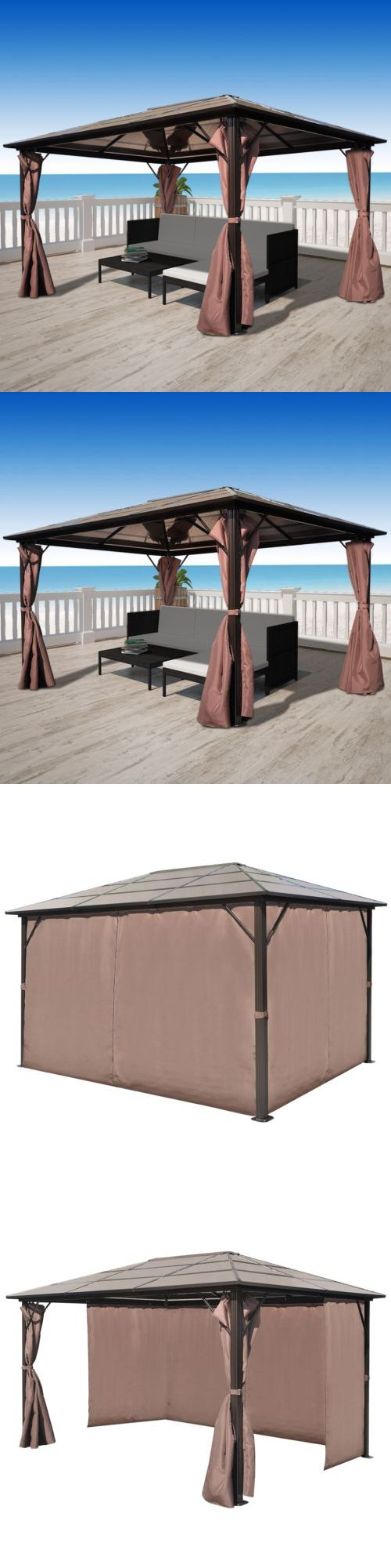 Marquees and Tents 180994: 13 X10 Garden Gazebo Pavilion Canopy Marquee Party Reception Tent Outdoor Brown -> BUY IT NOW ONLY: $644.99 on eBay!