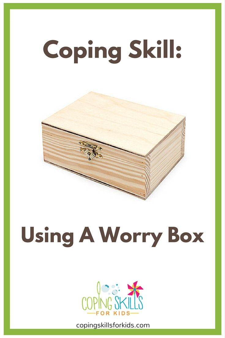 Sometimes, to really help deal with stress, you need to take some focused time to think and talk about your worries. However, it's helpful to limit the amount of time that you are dwelling on these thoughts. You don't want to be thinking about it constantly. Using a worry box is a good way to help manage stressful feelings.
