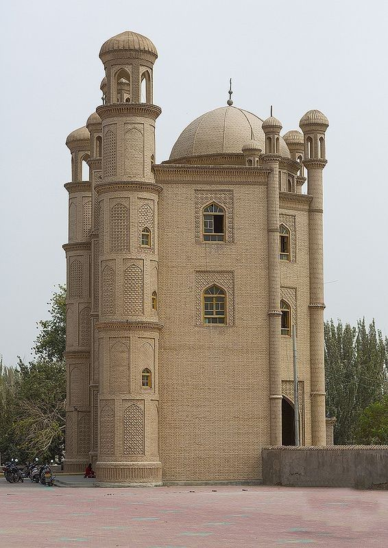 Mosque, Keriya, Xinjiang Uyghur Autonomous Region, China