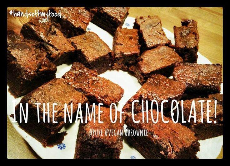 HandsoffmyFOOD!: SKINNY SINNER: Karamel-banaan-brownies met een overdosis #chocolade! #Vegan
