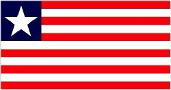 Liberia Flag 5ft x 3ft%(100% Polyester) with eyelets for hanging. http://www.novelties-direct.co.uk/liberia-flag-5ft-x-3ft-100-polyester-with-eyelets-for-hanging.html
