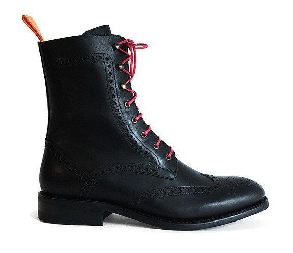 Men's Goodyear Welted Brogue Boot Black – Brodawka & Friends