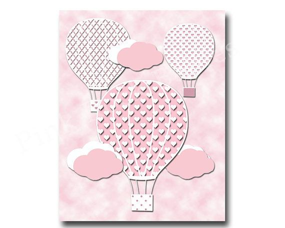 Pink nursery art baby nursery decor kids art by PinkRockBabies