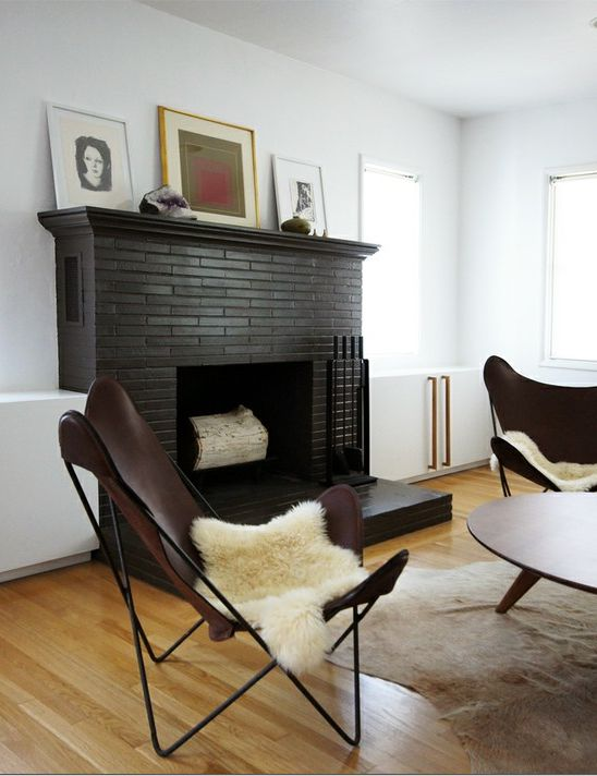 Hegegreenal Loungechairs For The Home Pinterest Fire Places Black Brick And Faux Fireplace
