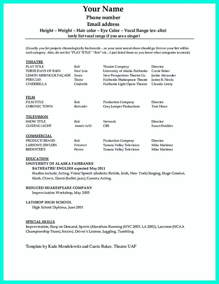childs audition resume template theatre sample singing example an crucial figure submit attractive in case format bit resumes