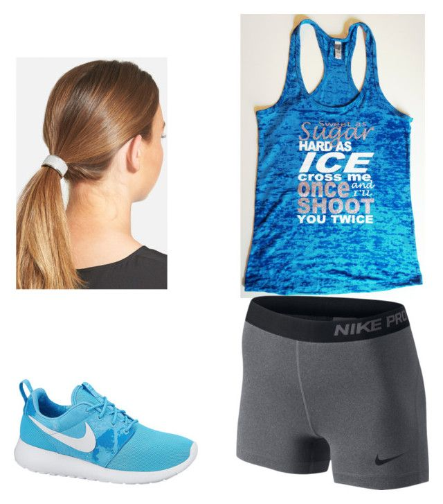 """""""Cross country training tmrw!!!!"""" by lavender-galaxy ❤ liked on Polyvore featuring NIKE, L. Erickson and country"""