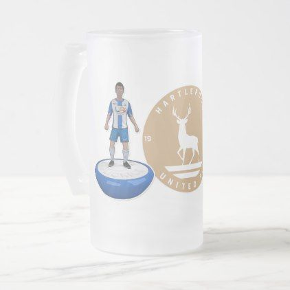 Hartlepool United 2017/18 - Gold Logo Frosted Glass Beer Mug - retro gifts style cyo diy special idea