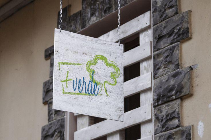 """Restyling logo per """"+verde"""" paesaggistica per il verde - 2014"""