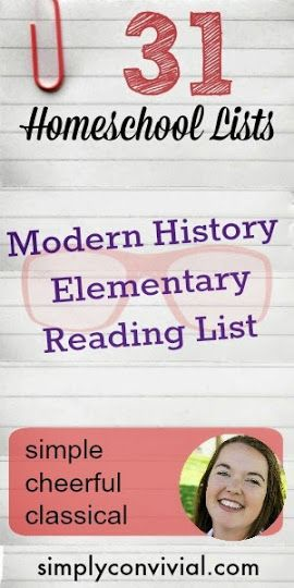 Modern History Cycle Free Reading Book List » Simply Convivial