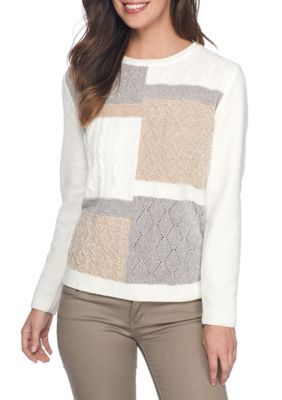 Alfred Dunner Women's Petite Size Sweater - Multi - Pxl