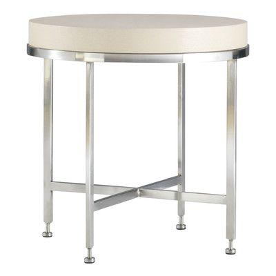 Allan Copley Designs Galleria End Table Finish: White on Ash