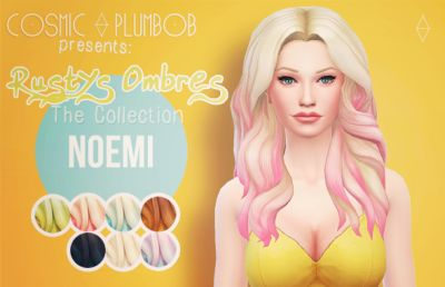 My Sims 4 Blog: Rusty's Ombres Hair Recolors by CosmicPlumbob