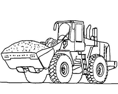 Bagger Malvorlagen Tractor Coloring Pages Truck Coloring Pages Online Coloring Pages
