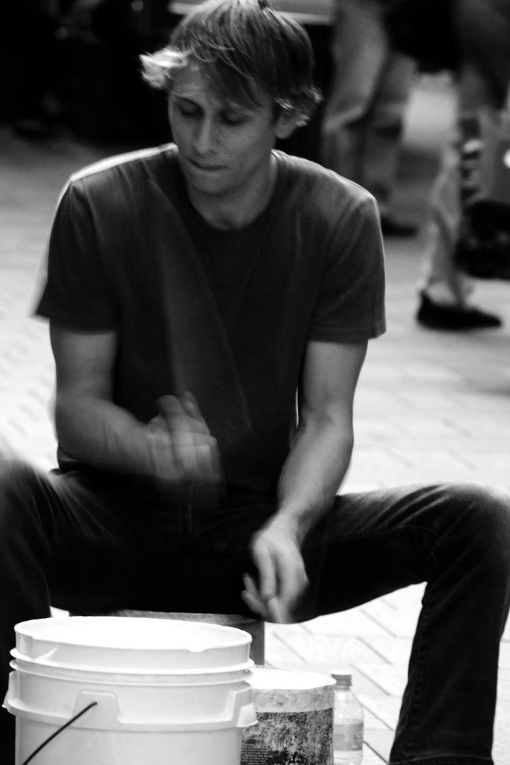 Pitt St Paint Bucket Drummer