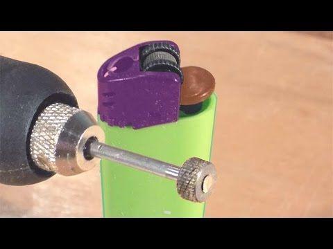 Как сделать фрезу для гравёра из зажигалки.