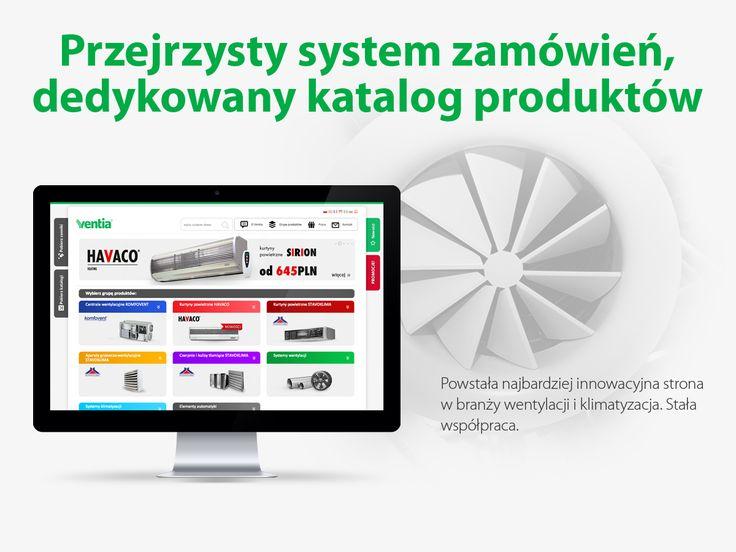 Ventia. Przejrzysty system zamówień, dedykowany katalog produktów.