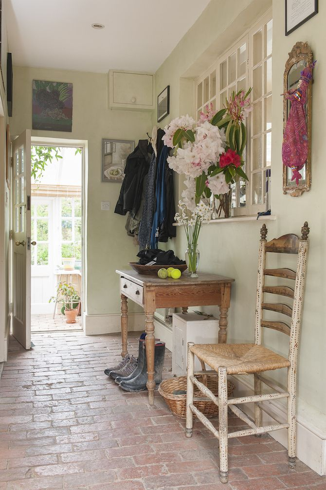 The hallway is home to more sweet scented flowers, and leads into the bright conservatory #WTinteriors #interiors