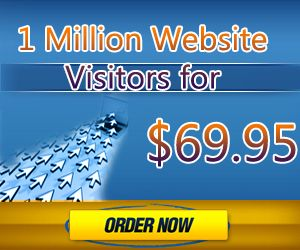 1 Million Visitors To Your Website - Get 10,000 Free USA Visitors With Any Order!