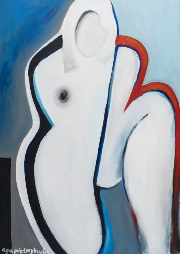 France is a woman acrilic canvas 2015