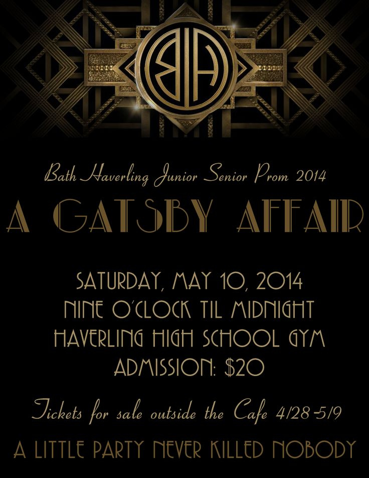 62 best The Great Gatsby invitations\/templates\/fonts images on - prom invitation templates
