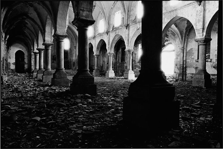 CHINA. Poli Zhuang Cun, Shangdong Province. 1993. This church was built in 1889. During the religious suppression it was not torn down because it was used as a school auditorium. In the 1980s, after the prohibition of religion was repealed, the government returned this building to the church organization. Due to lack of funds for repair it is now unusable.