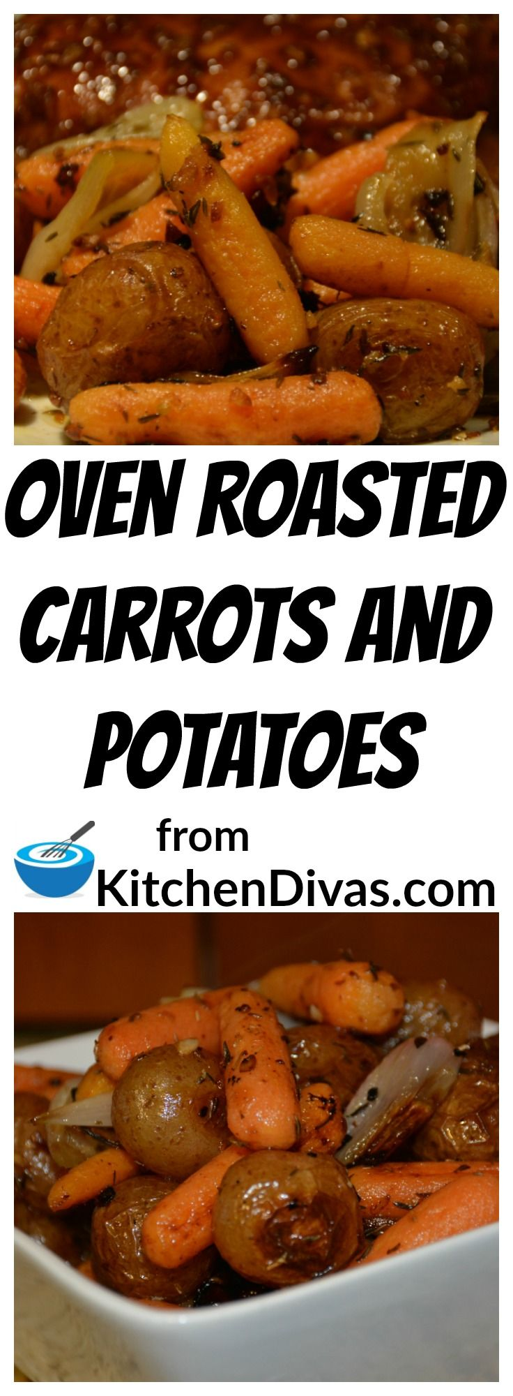 This recipe for Oven Roasted Carrots and Potatoes is so easy and absolutely delicious! This a perfect vegetable side to include in any meal. You have to give this a try.
