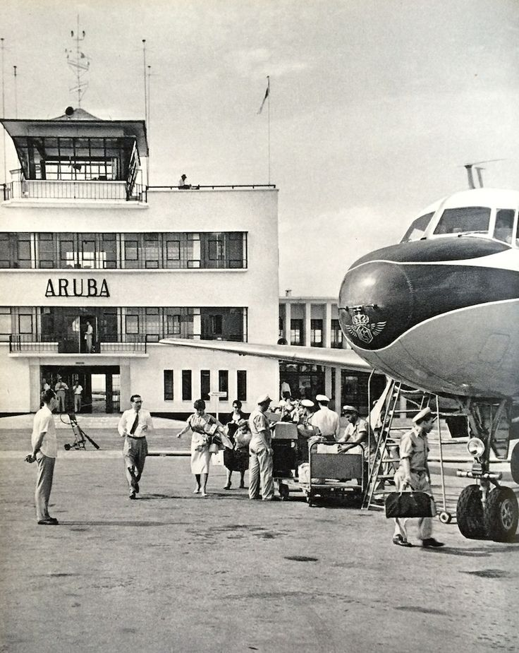 My favorite of the Aruba airports of our youth.  This was the one of the majority of our childhood.  The KLM flew us to either Miami or NYC aboard a DC-3, DC-4, Convair or Constellation, low and slow, a long day of flying and lay-overs for fueling and passengers in Kingston and Havana before arriving in Miami.