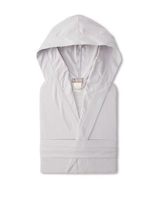 60% OFF Coyuchi Cloud Brushed Flannel Hooded Robe (Pewter)