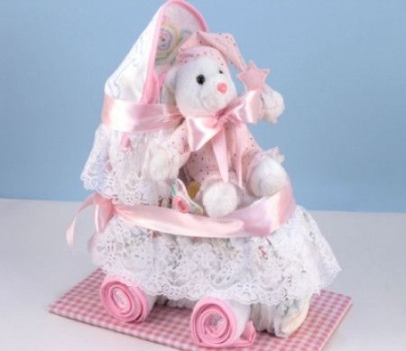 Baby Diaper Carriage (Pink) (#BGC76)