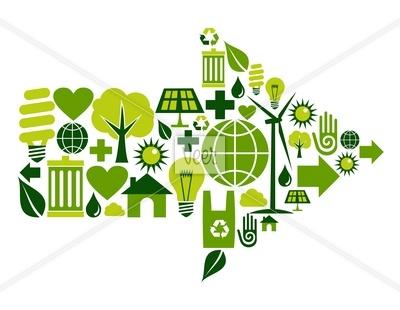 Green arrow symbol icons Stock Illustration